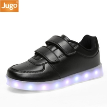 2017 New USB Charging Basket Led Children Shoes With Light Up Kids Casual Boys&Girls Luminous Sneakers Glowing Shoes enfant