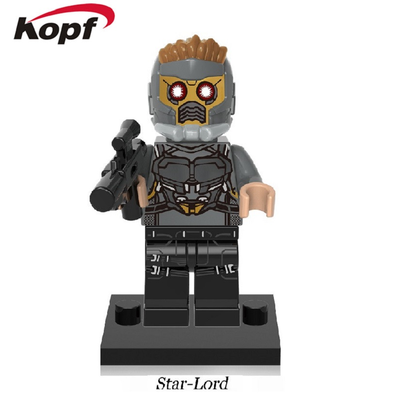 20Pcs Star Wars Guardians of the Galaxy Star-Lord Rocket Racoon Super Heroes Building Blocks Collection Toys for children XH 603