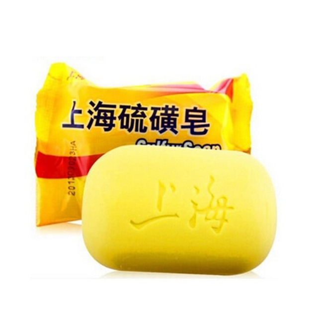 Cheapest Hotest 85g Shanghai Sulfur Soap 4 Skin Conditions Acne Psoriasis Seborrhea Eczema Anti Fungus Bath Healthy Clean 4