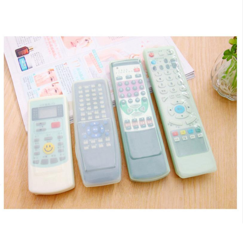 New Qualited TV Remote Control Set Waterproof Dust Silicone Protective Cover Case Stylish cover for TV remote control D30 Feb7