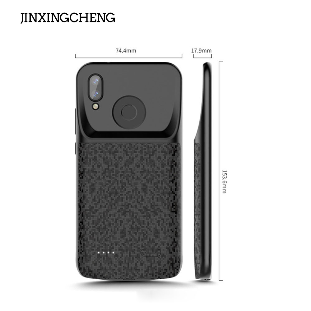 JINXINGCHENG <font><b>Battery</b></font> Charger <font><b>Case</b></font> for <font><b>Huawei</b></font> <font><b>P20</b></font> Lite 4700mah Back Clip <font><b>Battery</b></font> Wireless Fast Charger for <font><b>Huawei</b></font> Nova 3e Cover image