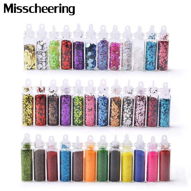 Glitter-Powder Nail-Sequin-Set Manicure-Decorations Acrylic-Flakes Shiny Ultra-Thin 12colors