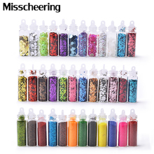 12Colors Shiny Nail Glitter Powder Ultra thin Nail Sequin Set 3d Hollow Acrylic Flakes For DIY Nails Design Manicure Decorations