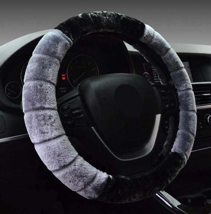 Rete 38 سنتيمتر العالمي سيارة غطاء عجلة القيادة التزلج الأزياء أفخم قصيرة الفراء لينة دافئ تصميم