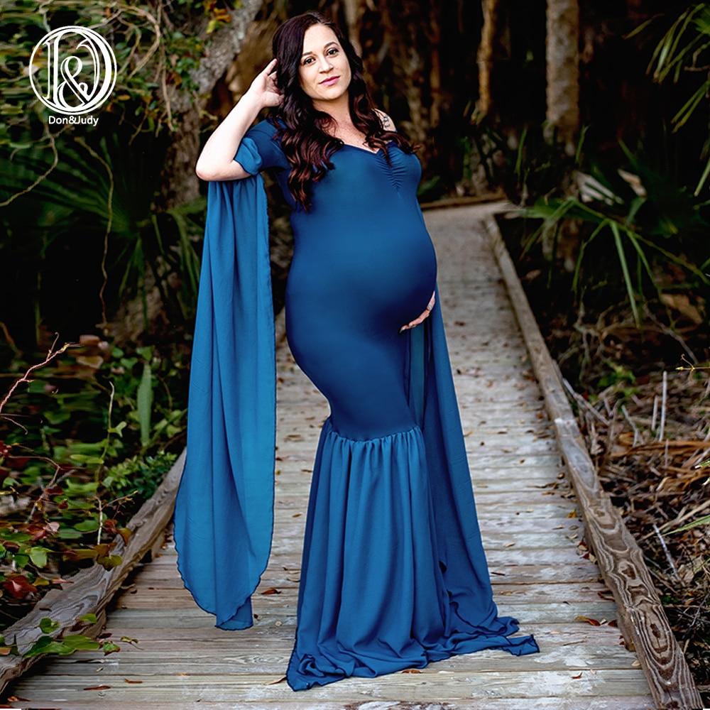 4845c77d2b2e5 D&J Elegant Maternity Dresses Sexy Maternity Photography Prop Fancy Pregnant  Wedding Dress Party Long Sleeve Dresses Photo Shoot
