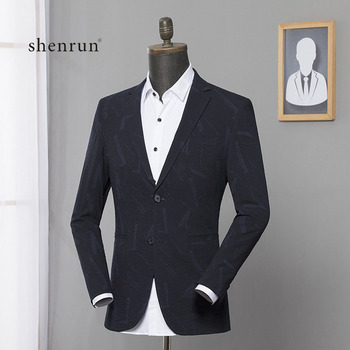 shenrun New Arrival Spring/Autumn High Quality Printing Casual Blazer Men,men's Suits Jackets ,casual Jackets Men Clothes 2019