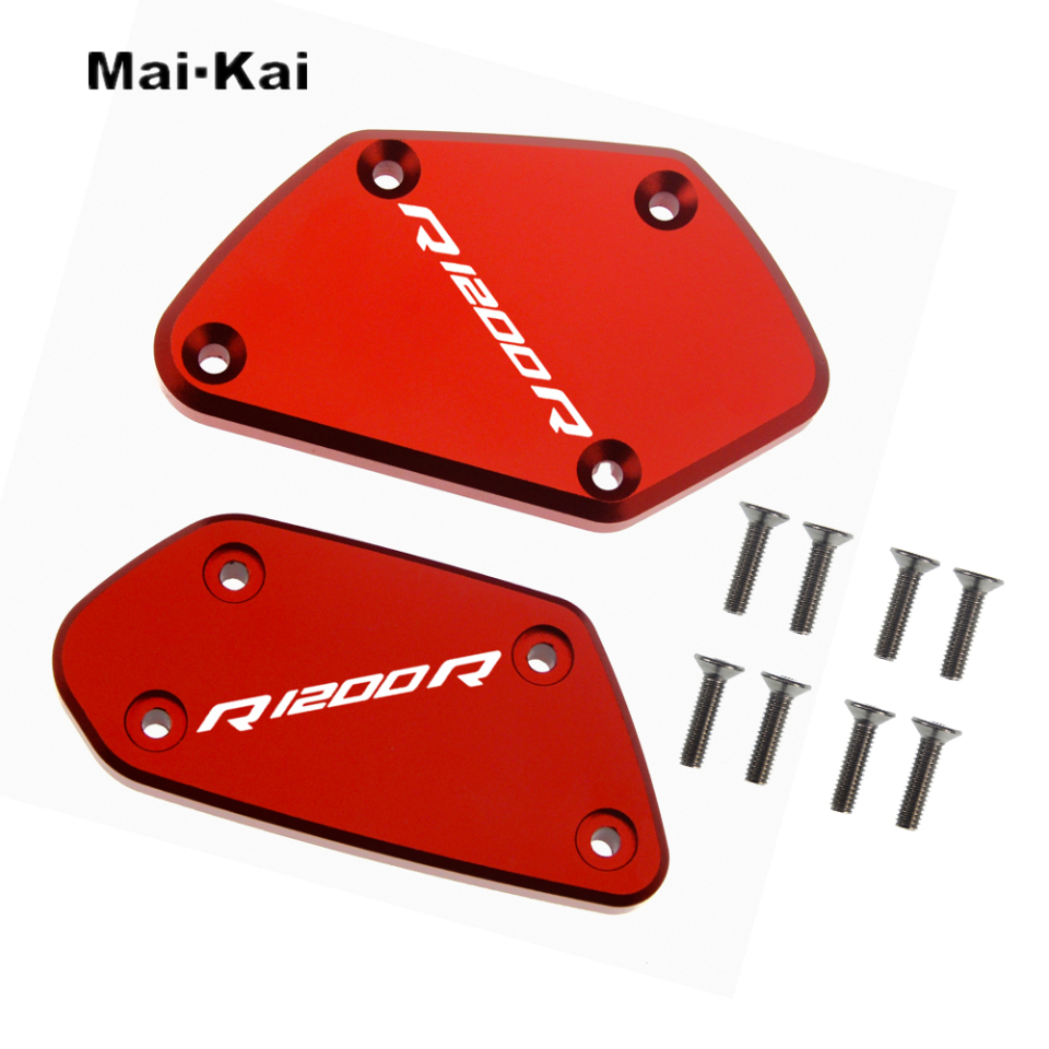 MAIKAI FOR BMW R1200R R1200 R R 1200R 2014 2017 CNC Motorcycle Brake Fluid Fuel Tank Cover Cap in Covers Ornamental Mouldings from Automobiles Motorcycles
