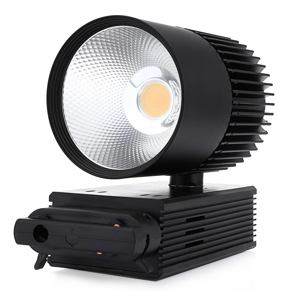 Black Track Light 30W COB Ceiling Rail lights For Pendant Kitchen Clothes Shop Shoes Store Equal 300W Halogen Lamps Spotlight led track light50wled exhibition hall cob track light to shoot the light clothing store to shoot the light window