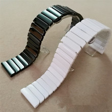 Watchbands 22mm 24mm  Black White High Quality Ceramic Watch Band Strap Bracelets For Mens Lady Watches
