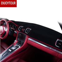 Car Dashmats Car styling Accessories Dashboard Cover for Porsche Boxster Cayman 718 2012 2013 2014 2015 2016 RDH+LHD