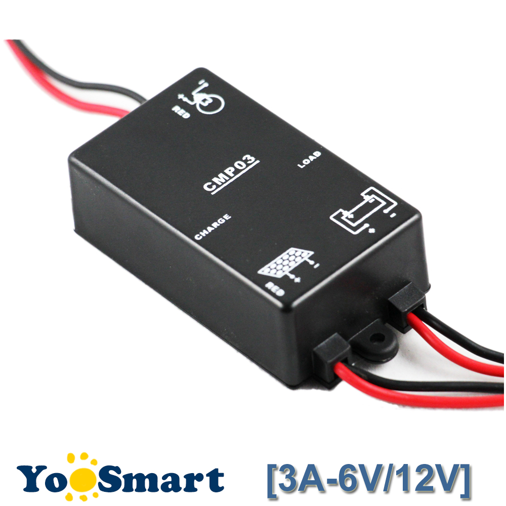 PWM 6V/12V 3A Solar Charge and Discharge Controller PWM For Home Mini Solar Power System Load 24 Hours Timer IP68 WaterproofPWM 6V/12V 3A Solar Charge and Discharge Controller PWM For Home Mini Solar Power System Load 24 Hours Timer IP68 Waterproof