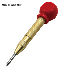цена на Most Popular Handle 5 Inch Automatic Center Pin Punch Spring Loaded Marking Starting Hol for Metal Drilling