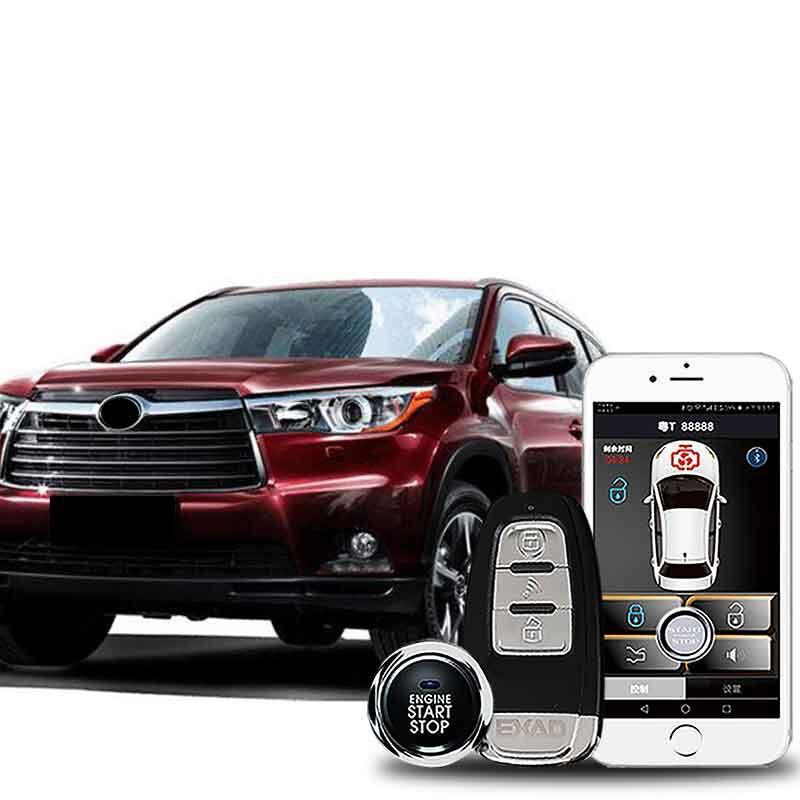 Alarme de voiture avec antenne démarrage à distance et système d'entrée sans clé alarme automatique starline a93 démarrage bouton d'arrêt verrouillage central MP913