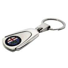цена на Car Key Chain Key Rings Pendants For Alfa Romeo Giulietta Giulia Gloria Super Spider Stelvio Brera Mito Disco Volante GT SZ 4C