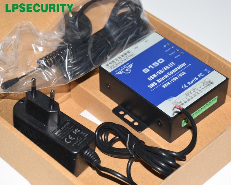 LPSECURITY GSM RTU controlador S150 GSM home Automation antirrobo alarma con Android/ios APP NC/NO/tipo de final de línea, contacto seco