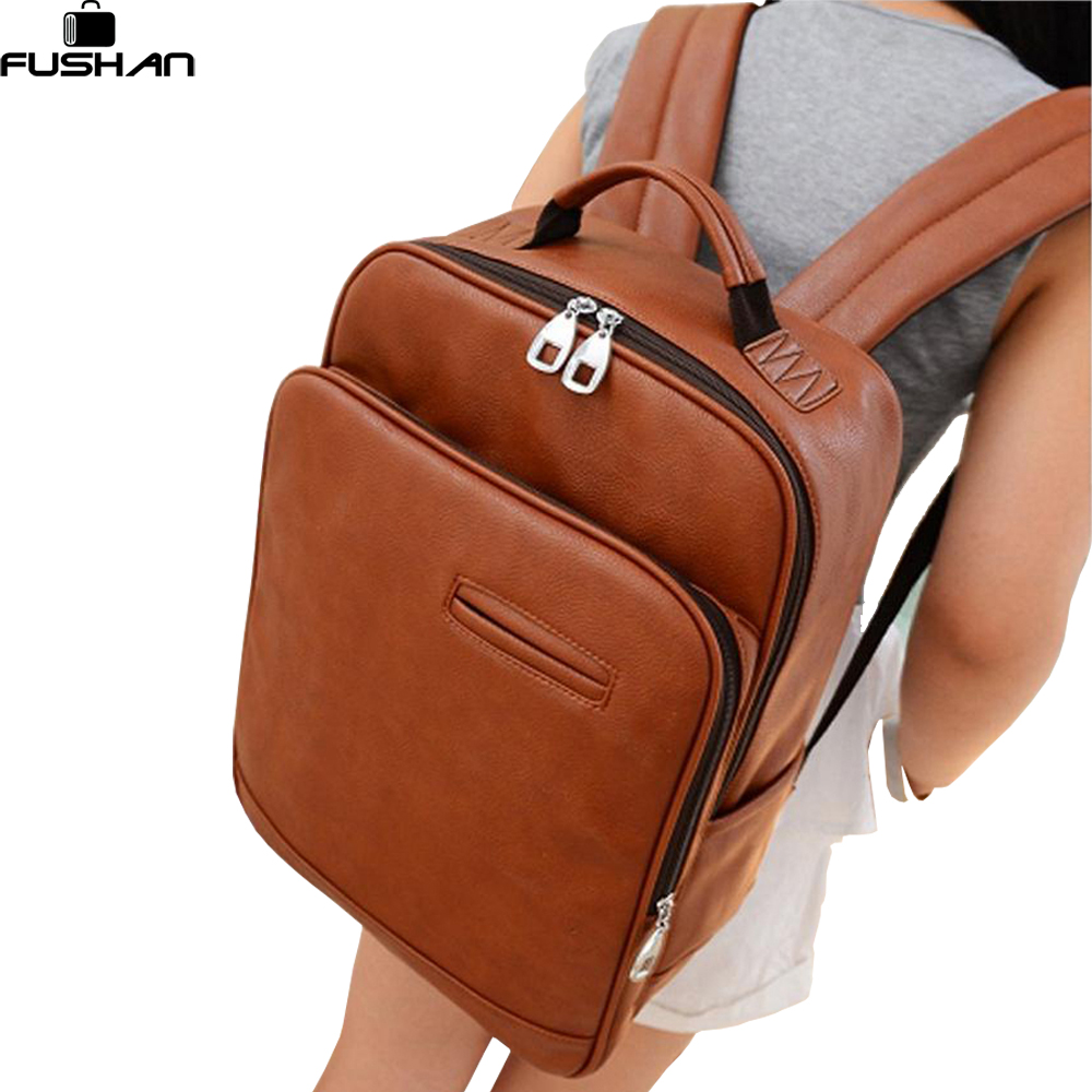 Popular Leather Backpack Men College-Buy Cheap Leather Backpack ...