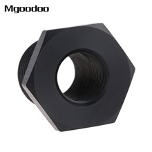 1Pc Automotive Oil Filter Threaded Adapter 1/2-28 to 13/16-16 Black Anodized Aluminum UNF Fitting Auto replacement part