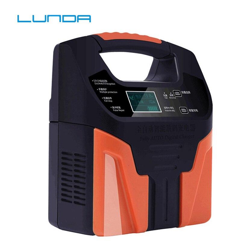 Chargeur de batterie au plomb 10A 220 V 12 v 24 V chargeur rapide intelligent de batterie de voiture de camion de moto