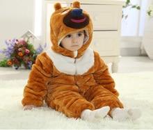 3D животное дизайн младенцы одежда для детские комбинезоны зима