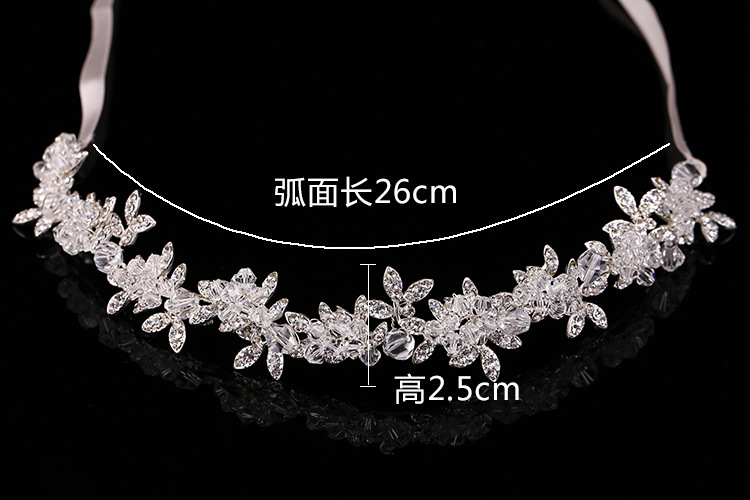 New Arrival Noble Crystal Rhinestone Bridal Headpieces Satin Ribbon Wedding Hair Accessories for Brides Tiaras Crowns Headbands 5