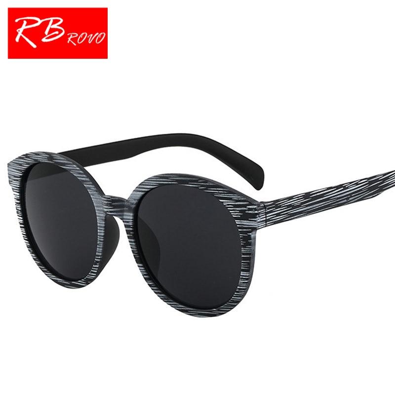 569a8592782 RBROVO 2018 Retro Sunglasses Men Brand Designer Classic Imitation Wood Sun Glasses  Men Women Driver