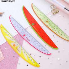 4PC Stylish Korea Kawaii Fruit Stationery Carving Plastic Ruler 15 Cm Regla Sewing Ruler Office School Supplies Drawing Patterns