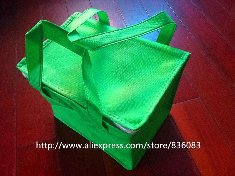 Free Shipping Portable Picnic Ice Bag 24x17x20cm Non-woven fabric  Material Inside Aluminum Foil Insulation Fresh  Cooler Bag