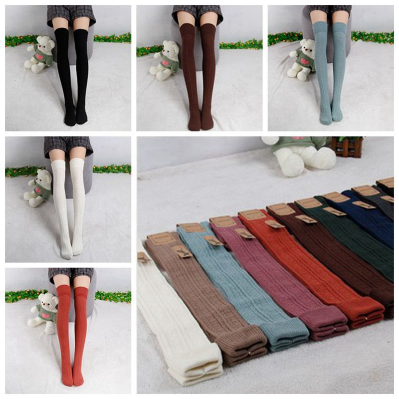 Hayoha 2017 Spring and Autumn Over Knee leggings Fashion Womens High Cotton Sexy 7Color Leggings High Quality