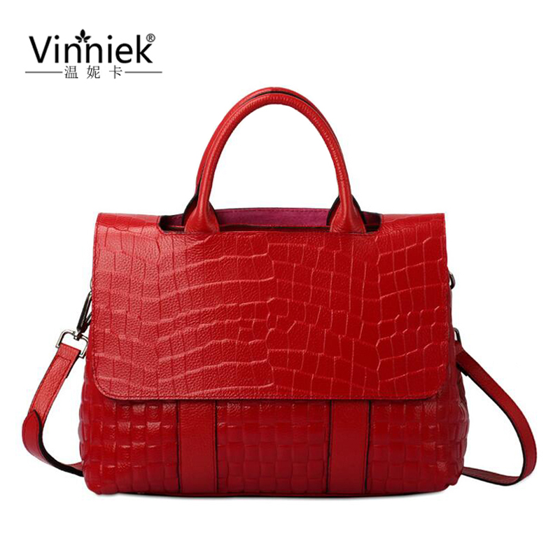 100% Genuine Leather Luxury Handbag Women Bag Designer Alligator Female Bag High Quality Big Shoulder Bag Girl Large Casual Tote luxury genuine leather bag fashion brand designer women handbag cowhide leather shoulder composite bag casual totes