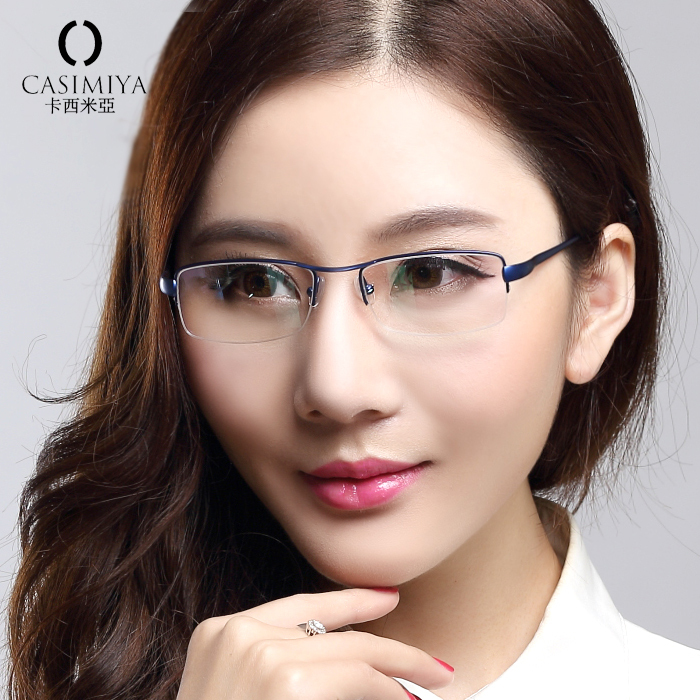 2015 original casimiya brand eye glasses frames for women eyeglasses frame women optical glasses half rimless eyeglasses oculos in eyewear frames from - Womens Frames