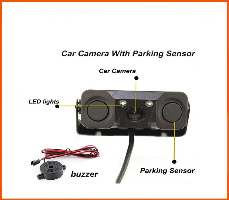 The three one intelligent vehicle reversing camera new car rearview camera waterproof vehicle car rearview camera ntsc