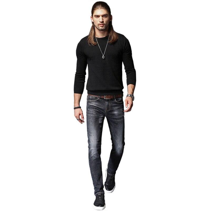 2018 Del Nuovo Mens Casual Dei Jeans Denim Di Cotone Stretch Tessuto Composito Piedi Stretti S Di Modo Classic Slim Elasticità