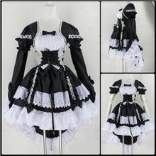 Anime Fantasy Maid Cosplay Costume Sweet Gothic Lolita Dress Halloween Performance Costume For Women Girls Disfraces