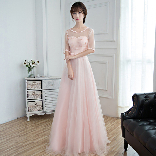 ad6f8ecd302 vestidos formales ladies lovely ball gown pink long korean evening gown  gowns dresses formal dress new fashion 2017 D3921