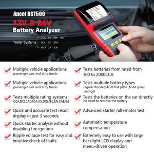 Image 2 - Ancel BST500 12V 24V Car Battery Tester Analyzer Automotive Car 24V Truck Battery Tester Tool 100 to 2000 CCA Built in Printer