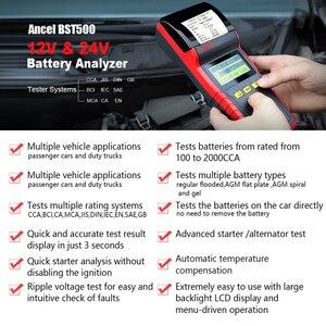 Image 2 - Ancel bst500 12 v 24 v analisador de testador de bateria de carro automotivo carro 24 v caminhão bateria tester ferramenta 100 a 2000 cca embutido impressora