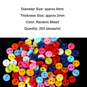 Promotion 200PCS Random Mixed Colors DIY Scrapbooking Cartoon Buttons Plastic Buttons for DIY Children's Garment Sewing Crafts