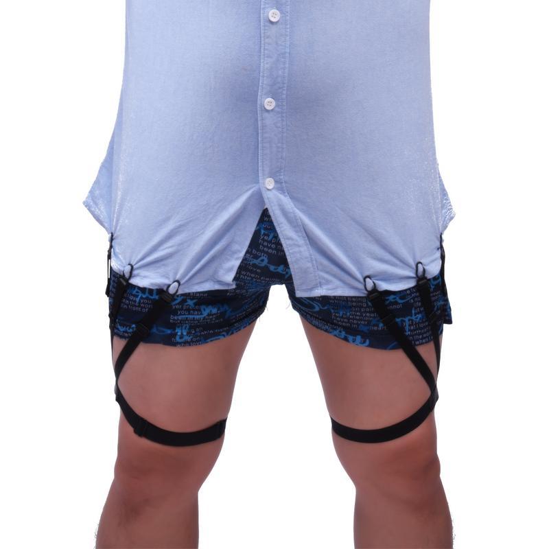 Hot Sale Mens Shirt Stays Garters Elastic Nylon Adjustable Shirt Holders Crease-Resistance Belt Stirrup Style Suspenders Garter