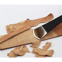Истончение кожи нож ручной работы изделия из кожи DIY инструмент Овощной кожи Лопата истончение нож кожевенное ремесло поставки