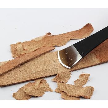 Nóż do cięcia skóry ręcznie robione wyroby ze skóry narzędzie do majsterkowania skórki do warzyw łopata do przerzedzania nóż akcesoria do galanterii skórzanej tanie i dobre opinie xbd-1 65#Manganese steel