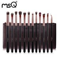 12Pcs Makeup Brush Sets Professional Goat Hair Blush Powder Foundation Contour Cosmetics Brushes Travel Bag Kits