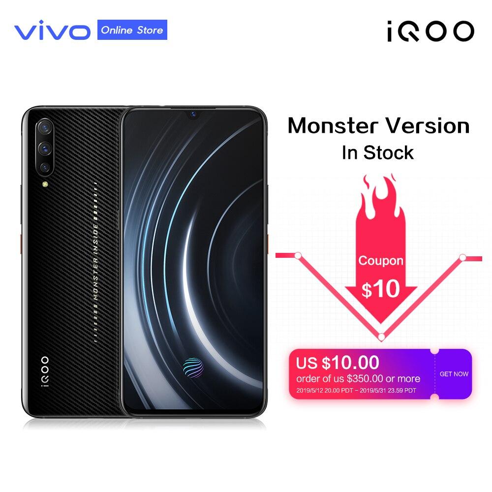 IQOO 6.41 ''Super AMOLED Telefone Móvel NFC Snapdragon 855 4000 mAh Grande Bateria 4D 44 W SuperCharge Samurai negro jogo de Smartphones
