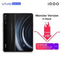 iQOO 6.41'' Super AMOLED Mobile Phone NFC Snapdragon 855 4000mAh Big Battery 44W SuperCharge Samurai black 4D Game Smartphone