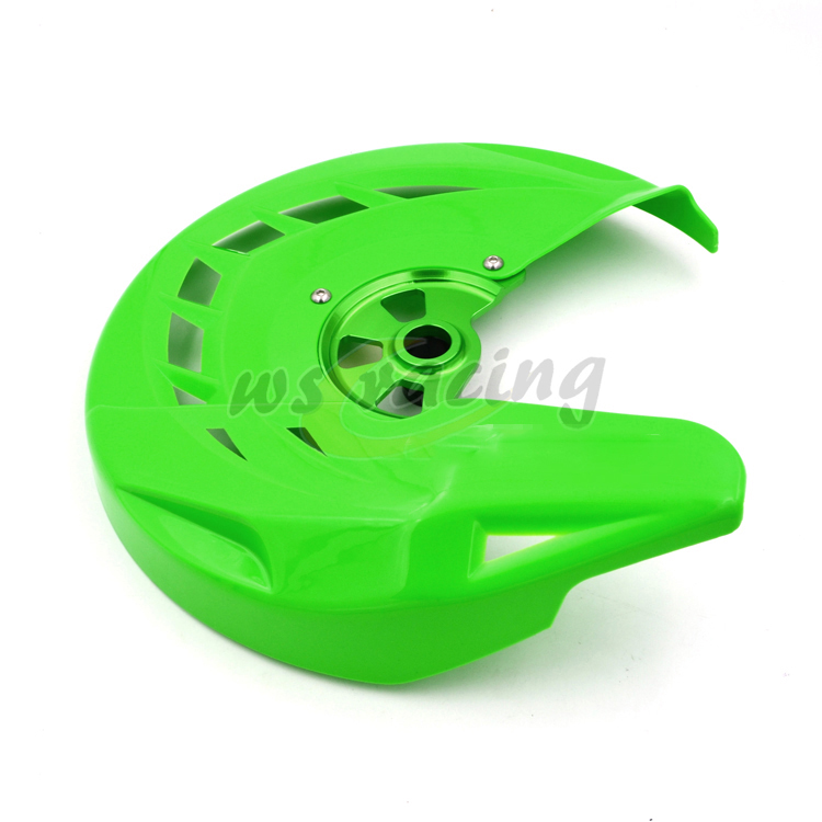 Motorcycle Front Brake Disc Rotor Guard Cover Protector Protection For KAWASAKI KX125 KX250 2006-2008 KXF250 KXF450 KLX450R keoghs motorcycle brake disc brake rotor floating 260mm 82mm diameter cnc for yamaha scooter bws cygnus front disc replace