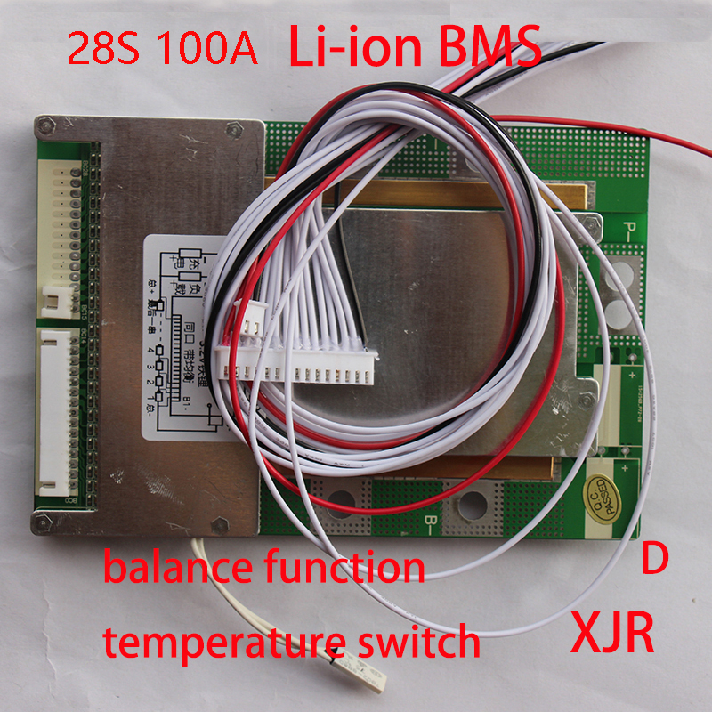 28S 100A version D lipo lithium Polymer BMS PCM PCB battery protection board for 28 Packs