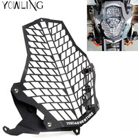 Motorcycle Headlight bracket Guard Grid Grille Lense Cover Protector for KTM 1190 Adventure 1190R 1290 Super Adventure 2015 2016