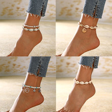 XIYANIKE 19 Style Summer Shell Pendant Anklets For Women New Stone Beads Anklet Bohemian Bracelets On Leg BOHO Ocean Jewelry(China)
