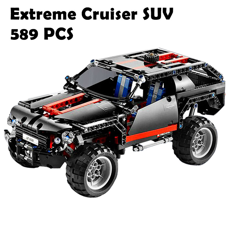 7ron 3341 Extreme Cruiser SUV Racing Car Model Building Block Eductional Toy Block DIY Brick Compatible With Lego Technic 8081 decool 3341 high tech transport cruiser suv racing car model 589pcs set building block sets kit toys for kids christmas gifts