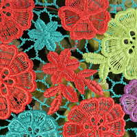 Hollow Water Soluble Lace Fabric Multicolor Embroidere Fabric Polyester Fabric Luxury Dress Fabric Wedding Fabric 130cm