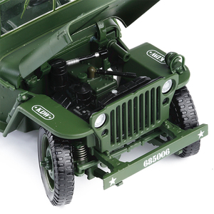 Image 2 - 1:18 Tactical Military Model Old World War II Willis Military Vehicles Alloy Car Model For Kids Toys Gifts Free Shipping